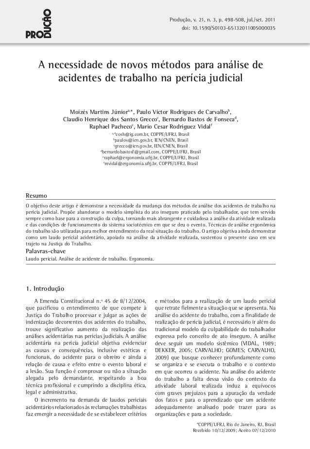 Produção, v. 21, n. 3, p. 498-508, jul./set. 2011 doi: 10.1590/S0103-65132011005000035  A necessidade de novos métodos par...
