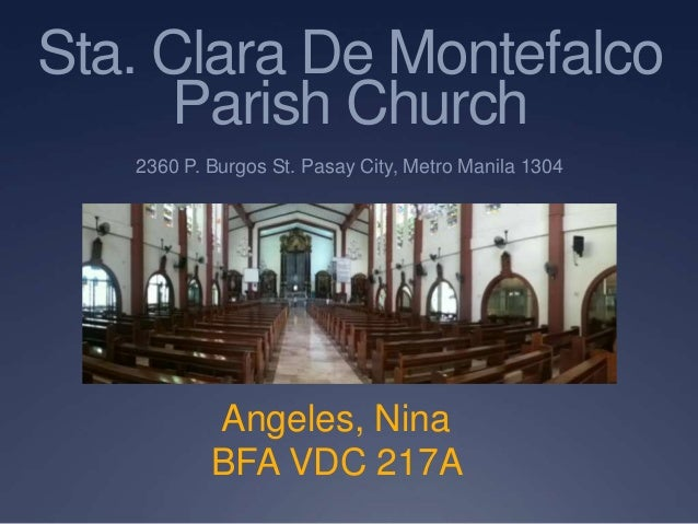Sta. clara de montefalco parish church