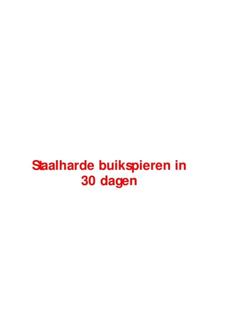 Staalharde buikspieren in        30 dagen