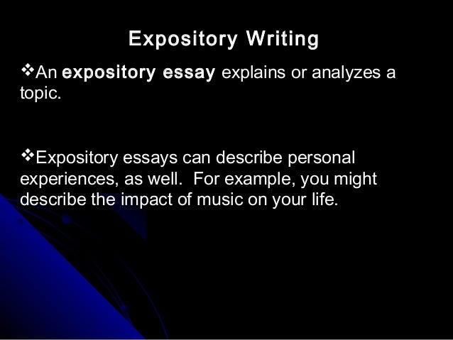 explanation expository essay