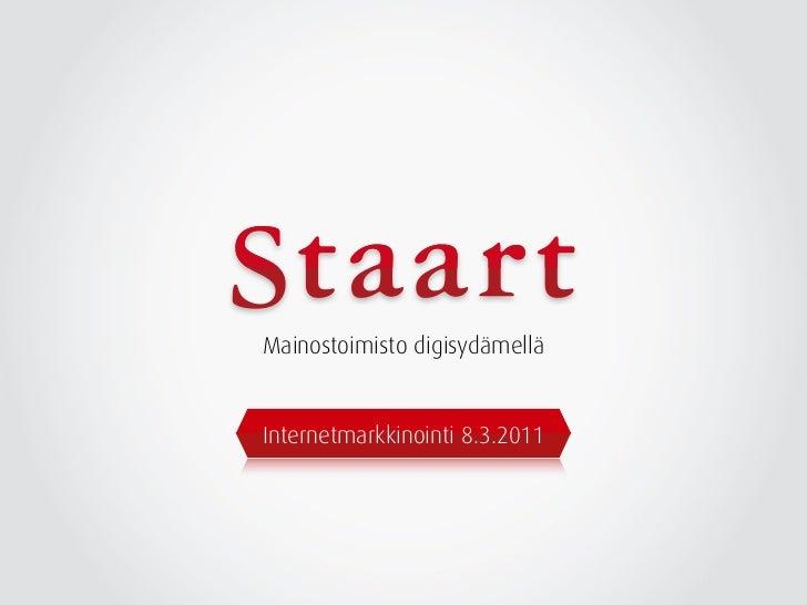 Mainostoimisto digisydämelläInternetmarkkinointi 8.3.2011