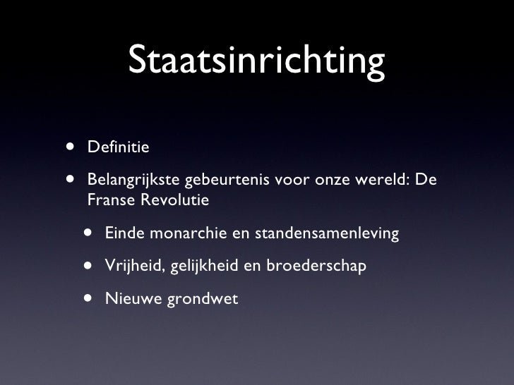 Staatsinrichting deel-1