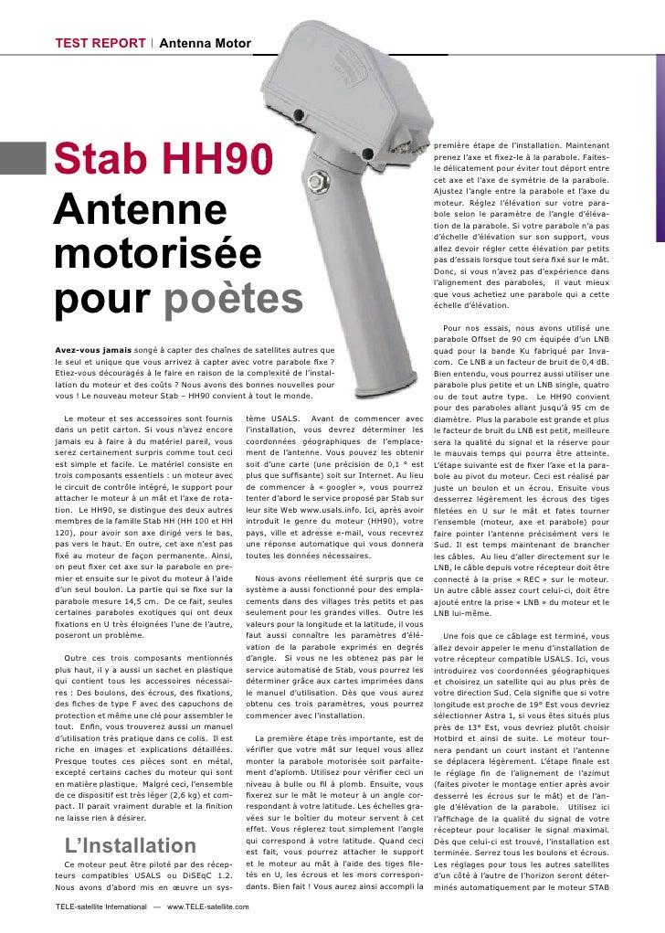 TEST REPORT                 Antenna Motor     Stab HH90                                                                   ...