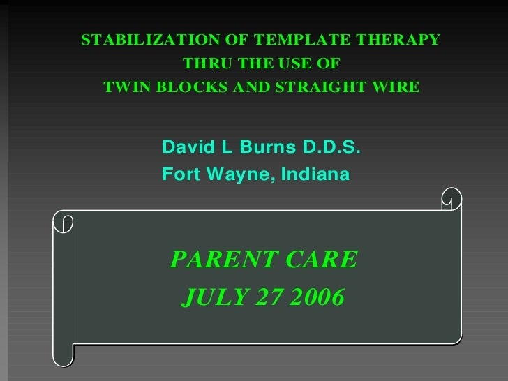 Stabilization of TMD thru Twin Block Therapy