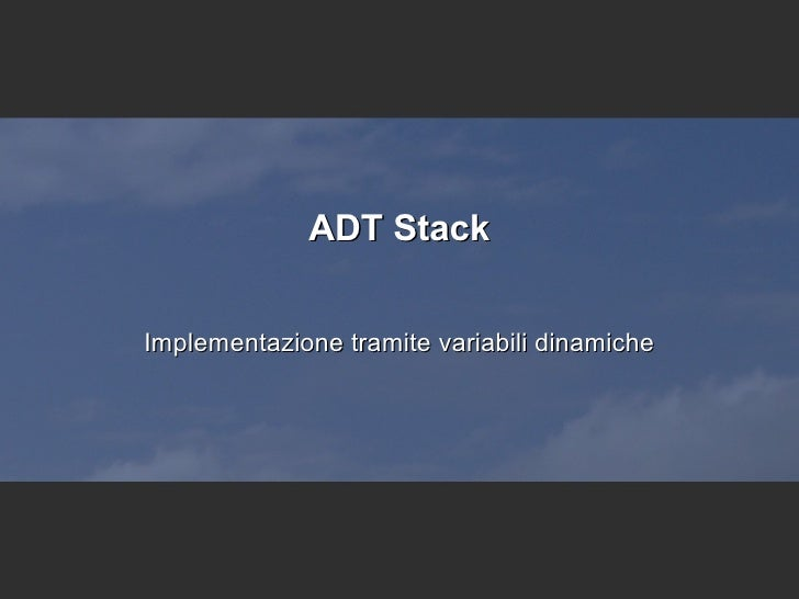 ADT Stack