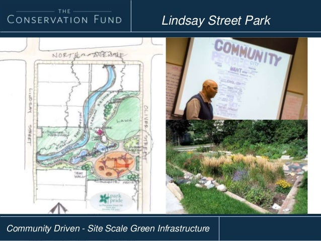 Community Driven - Site Scale Green Infrastructure Lindsay Street Park