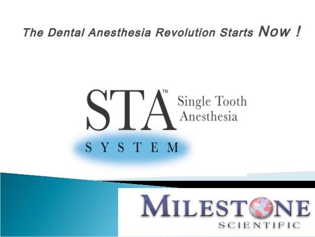 The Dental Anesthesia Revolution Starts   Now !