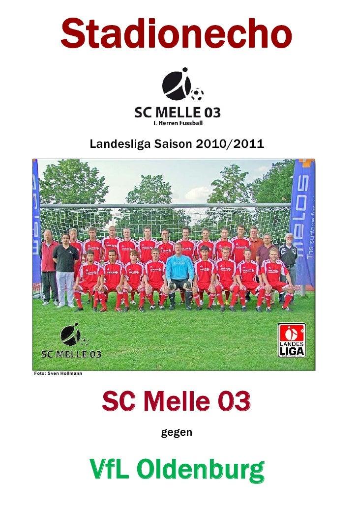 Stadionecho 9. Spieltag SC Mellle 03 gegen VfL Oldenburg