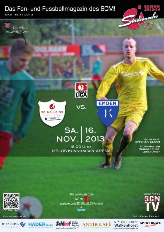 Stadionecho SC Melle 03 gegen TuS BW Lohne - Fussball Landesliga Weser-Ems