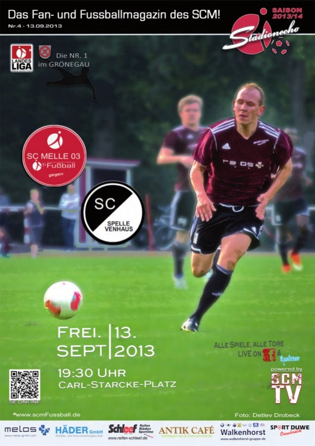 Stadionecho SC Melle 03 gegen SC Spelle-Venhaus - Fussball Landesliga Weser-Ems