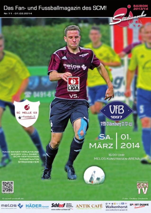 Stadionecho SC Melle 03 gegen VfB Oldenburg 2 - Fussball Landesliga Weser-Ems