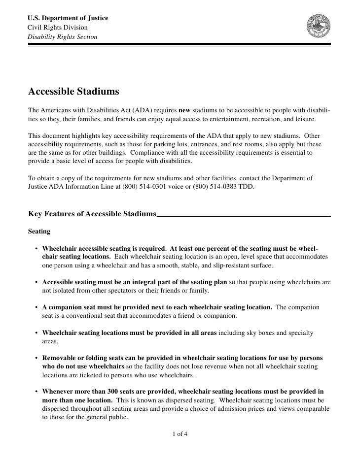 Accessible Stadium Design
