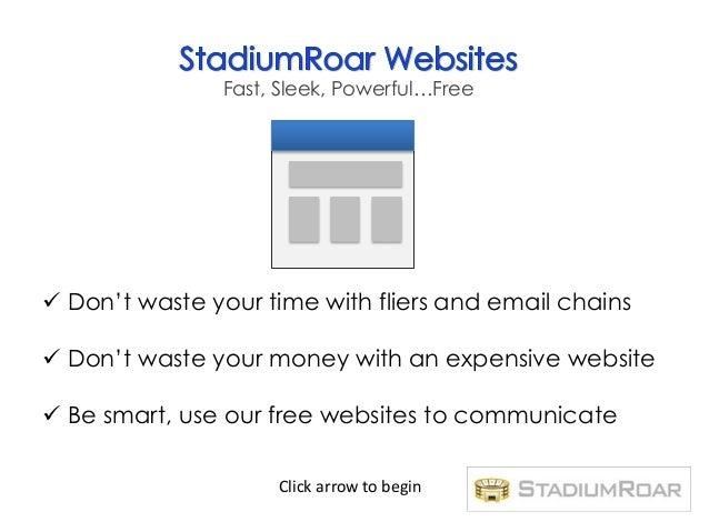 Free Organization Website Templates - StadiumRoar
