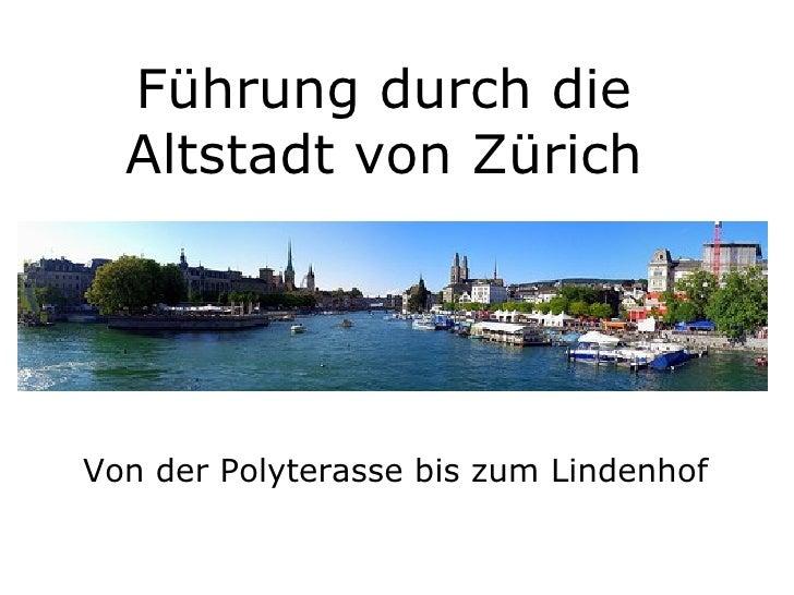 Führung durch die Altstadt von Zürich Von der Polyterasse bis zum Lindenhof