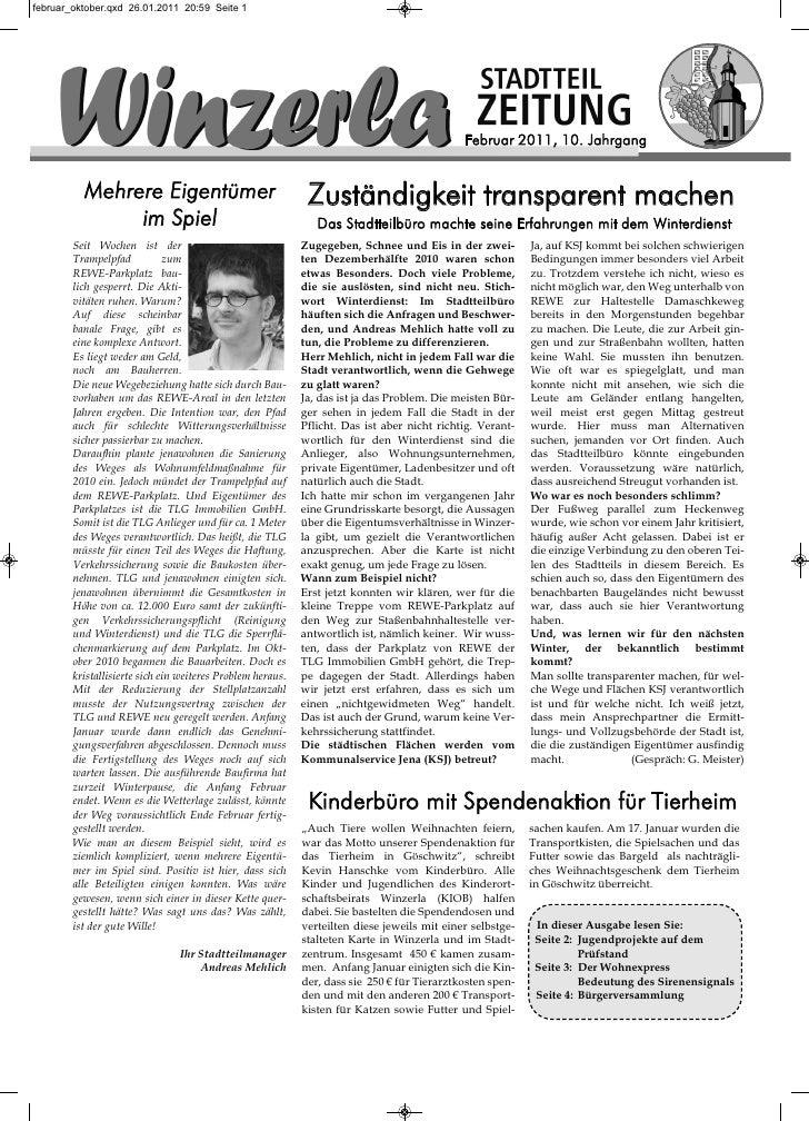 Februar 2011, 10. Jahrgang  Mehrere Eigentümer                                 Zuständigkeit transparent machen       im S...