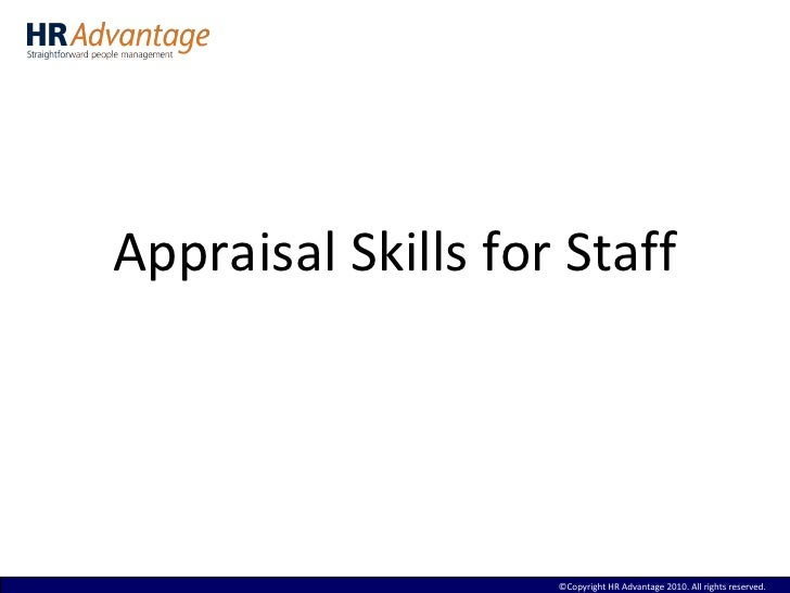 Staff appraisal training