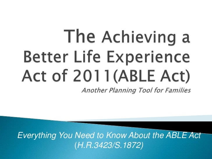 ABLE Act Briefing Slides