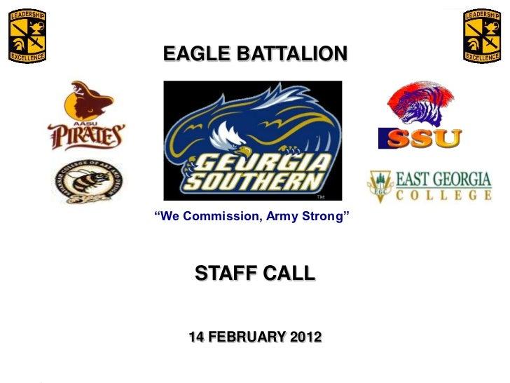 Staff call slides 14 Feb