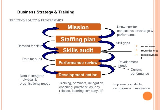 developing the training strategy