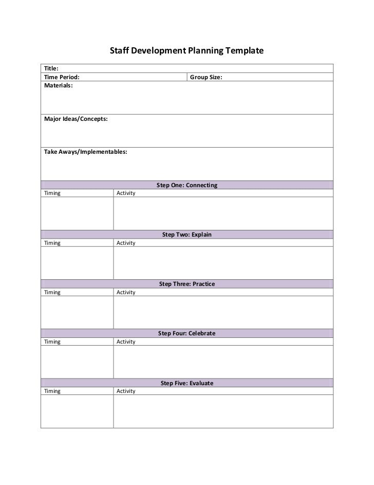 Staff development planning template for Employee professional development plan template