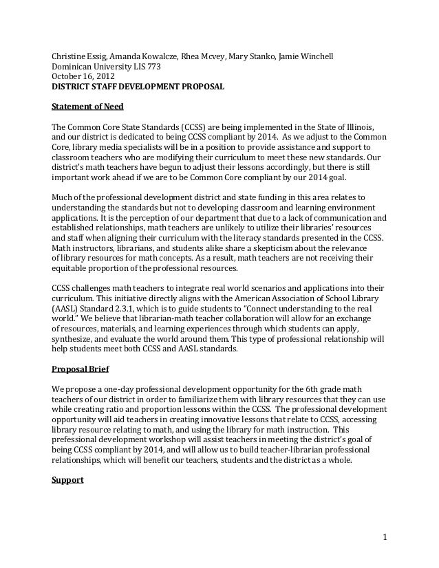 staff development proposal doc
