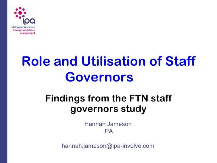 Staffgovernors