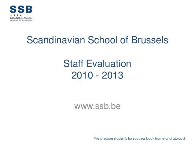 Staff summary 2013
