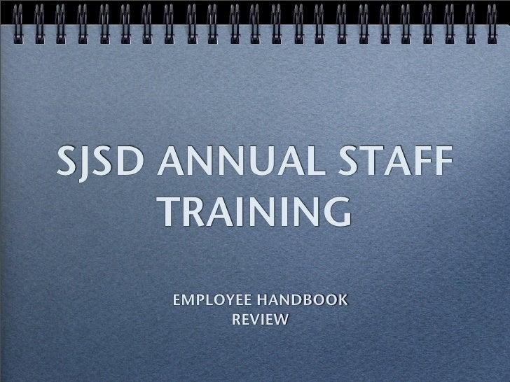 SJSD Staff Training