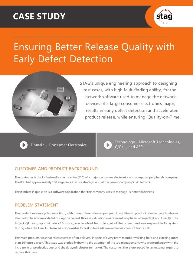Ensuring Better Release Quality with Early Defect Detection