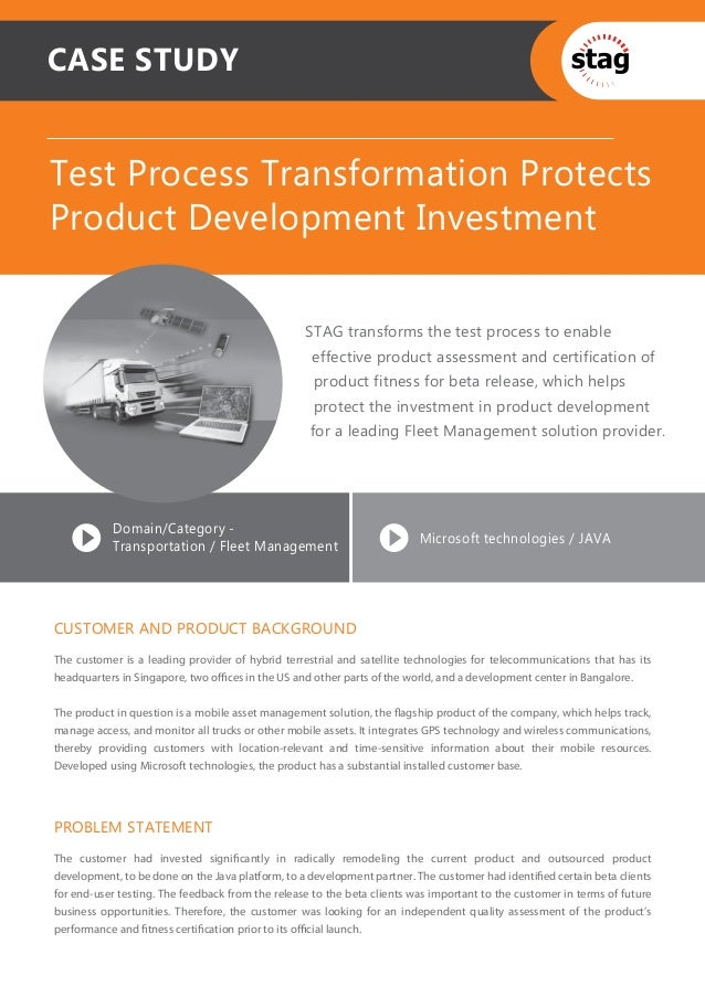 CASE STUDYTest Process Transformation ProtectsProduct Development Investment                                              ...