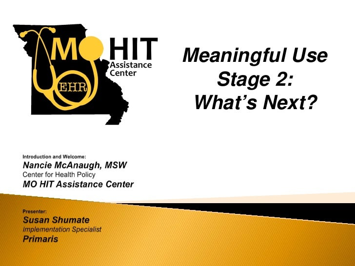 Meaningful Use Stage 2: What's Next?