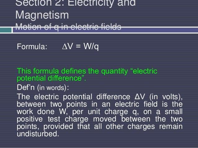 Potential Field Formula Electric Fields Formula