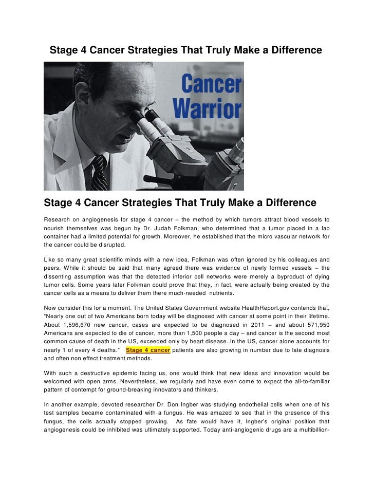 Stage 4 Cancer Strategies That Truly Make a DifferenceStage 4 Cancer Strategies That Truly Make a DifferenceResearch on an...