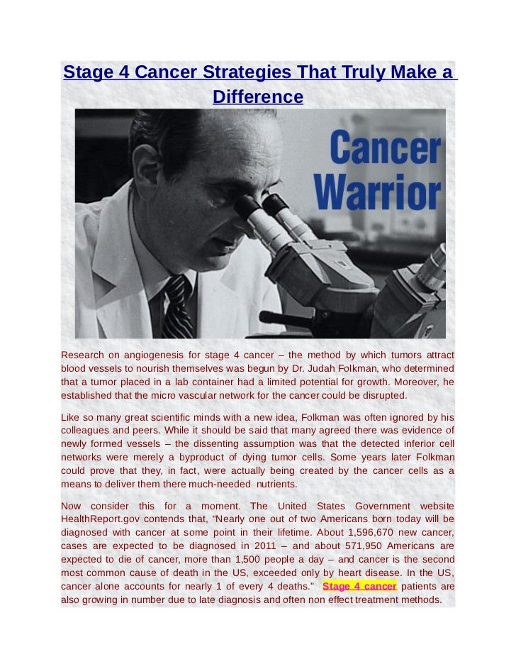 Stage 4 cancer strategies that truly make a difference