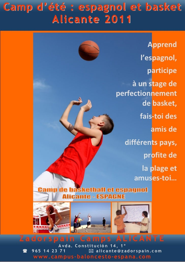 Stage baskete Epagne flyer