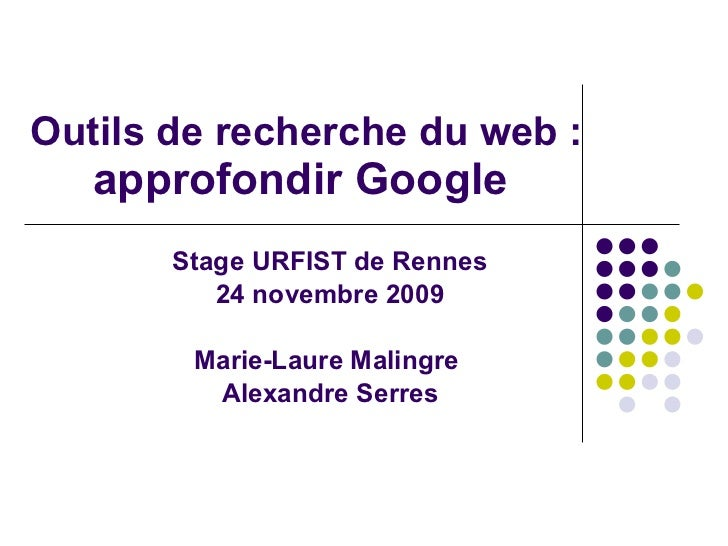 Stage Explorer Google 24novembre09