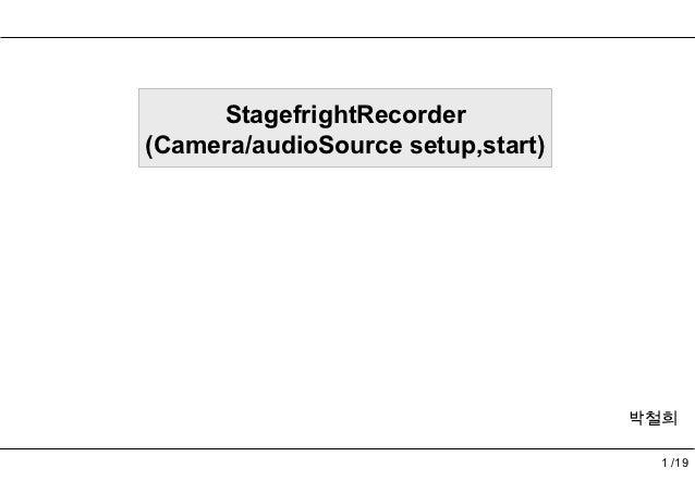 Stagefright recorder part1