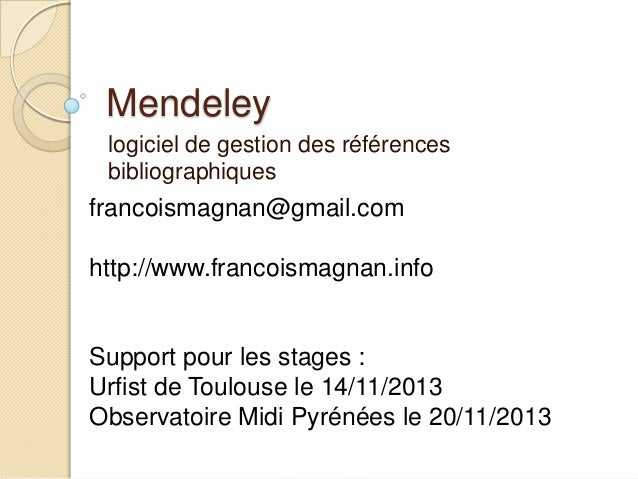 Mendeley gestion de bibliographies et réseau social scientifique