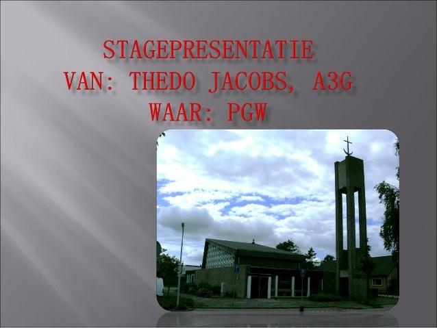 Stagepresentatie PG Wieringen