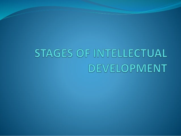 Intellectual Development in the Stages of Early Childhood