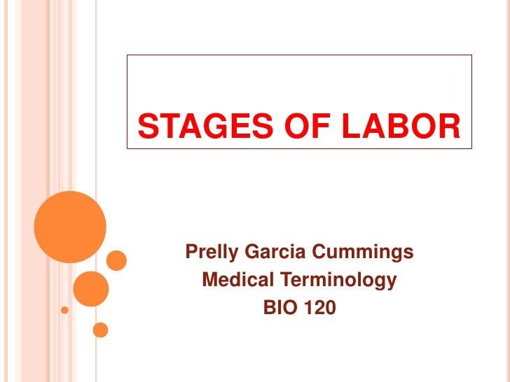 STAGES OF LABOR<br />Prelly Garcia Cummings<br />Medical Terminology<br />BIO 120<br />