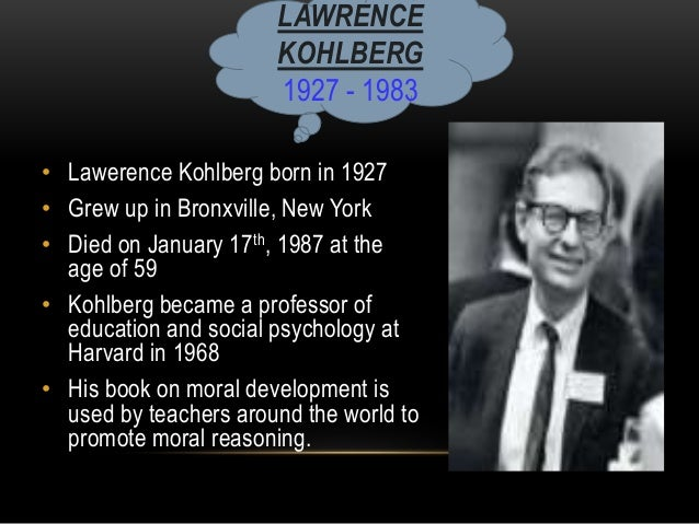 kohlberg essays View this essay on kohlberg's theory of moral development presents three the first level is referred to as the pre-conventional moral reasoning and is typically.