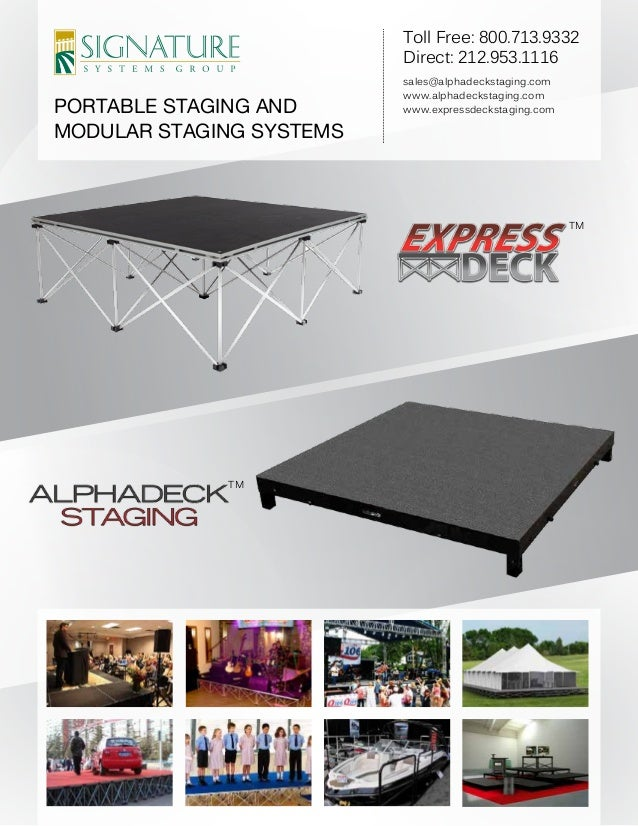 Portable Staging And Modular Staging Systems