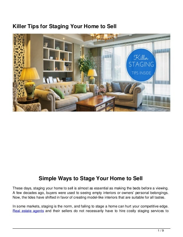 How To Stage A House Prior To Selling: Tips For Staging Your Home To Sell