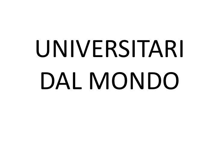 UNIVERSITARIDAL MONDO