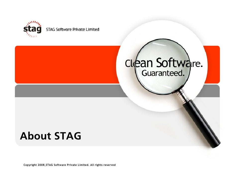 About STAG  Copyright 2008,STAG Software Private Limited. All rights reserved