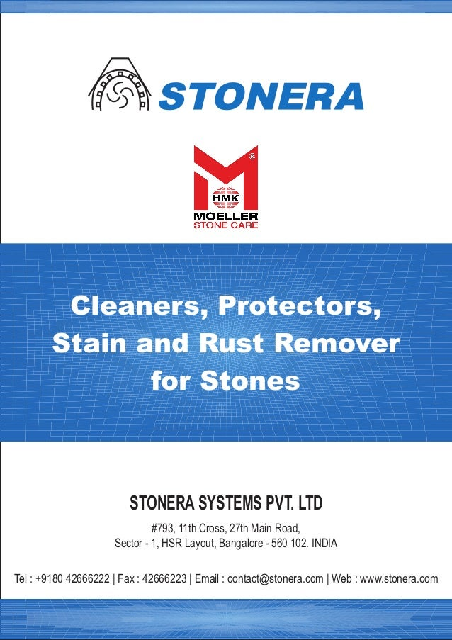 Stain, rust removers for marble, granite, flooring
