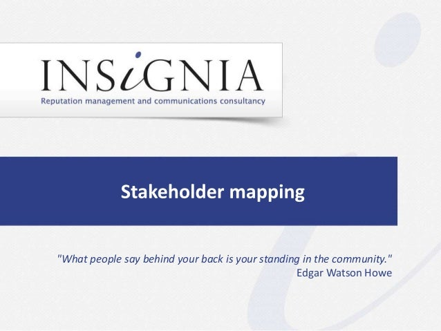 Stakeholder mapping by Insignia Communications