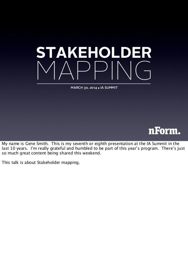 Stakeholder Mapping: IA Summit 2014