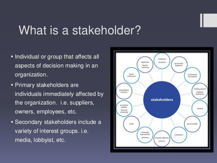 news corporation stakeholders Corporate social responsibility: the role and reasons for  and related to a  broader range of stakeholders—everyone influenced by their.